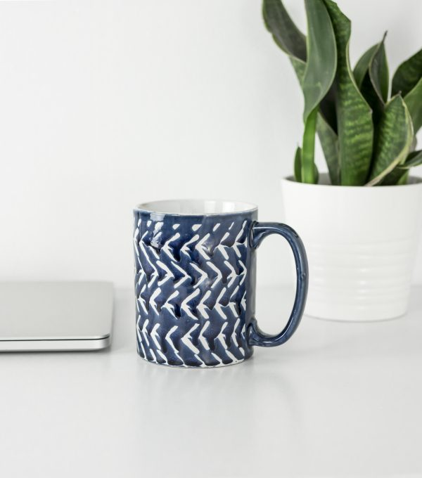 Blue and Silver Styled Office Stock Photos-18