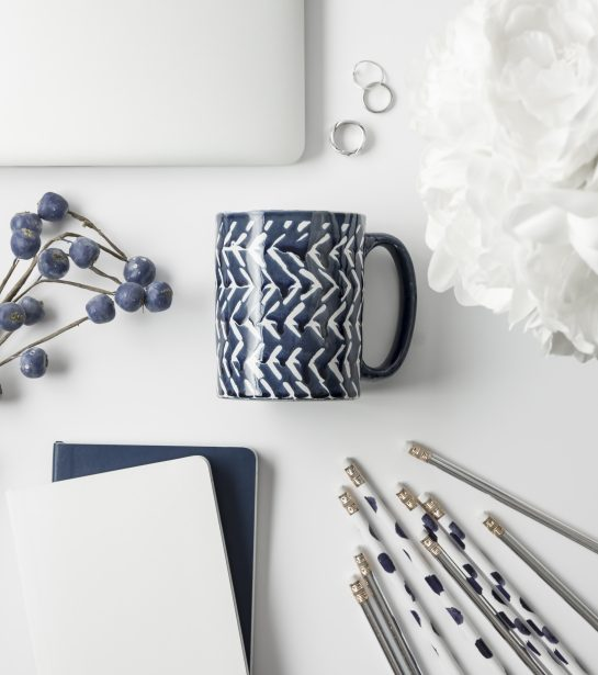 Blue and Silver Styled Office Stock Photos-2