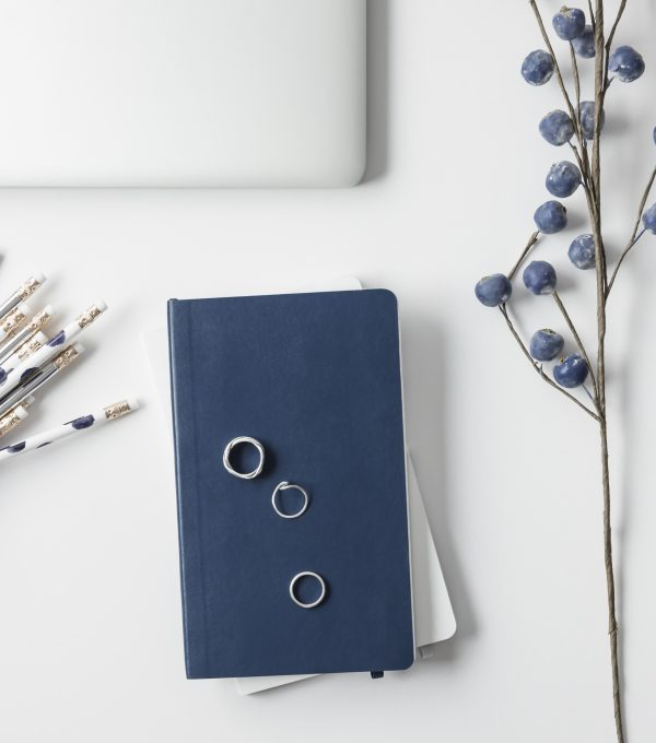 Blue and Silver Styled Office Stock Photos-3